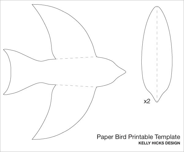 DIY PAPER BIRD MOBILE Template Plus A Free Printable I Love This CQ Paper Printables Templates Crafts