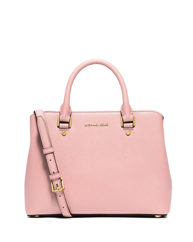 3080400236b9 MICHAEL Michael Kors Savannah Medium Saffiano Satchel Bag, Blossom, Women's