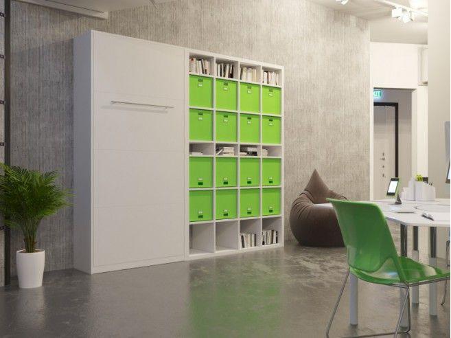 schrankbett 90cm vertikal weiss smartbett klappbett kleine r ume pinterest klappbett. Black Bedroom Furniture Sets. Home Design Ideas