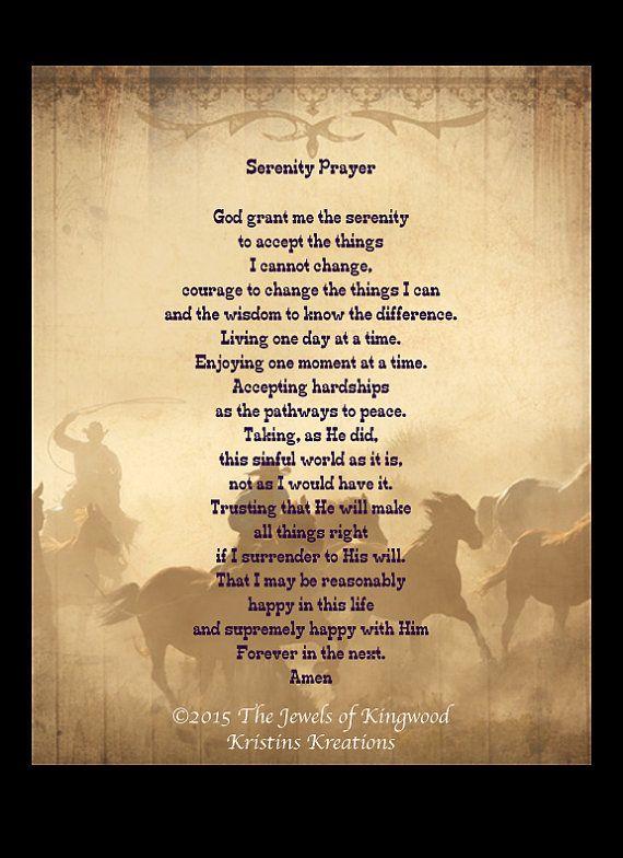 Serenity Prayer, Cowboys, Trail Riders, Wall Art, High Resolution ...