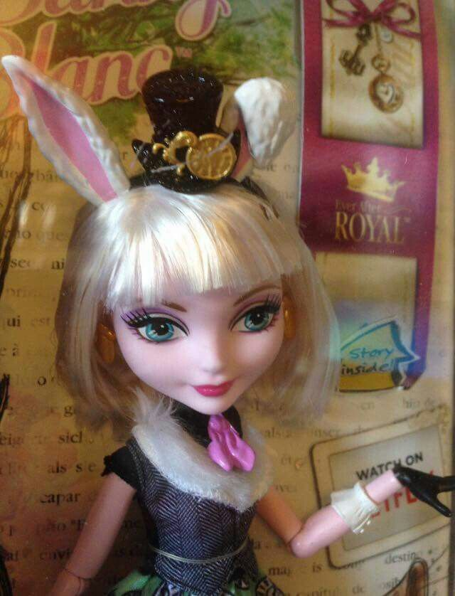 Ever After High Bunny Blanc In Box Closeup Ever After High 2015