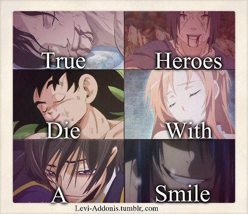 wahre helden sterben mit einem lächeln