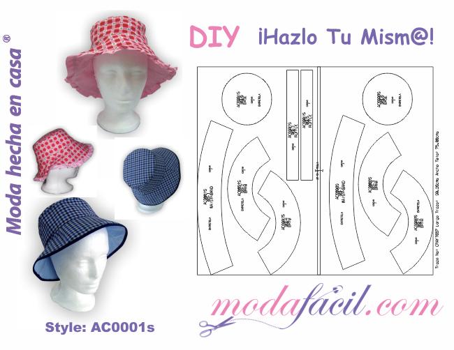 Descarga gratis el Patrón de Sombrero reversible de niña y niño ...