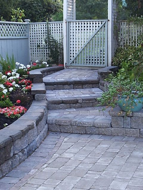 Best Pros Nice Use Of Paver Wall Caps Cons Stair Construction 400 x 300