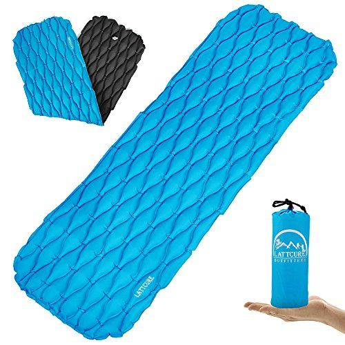 Lattcure Inflatable Sleeping Pad Lightweight Compact Comfy