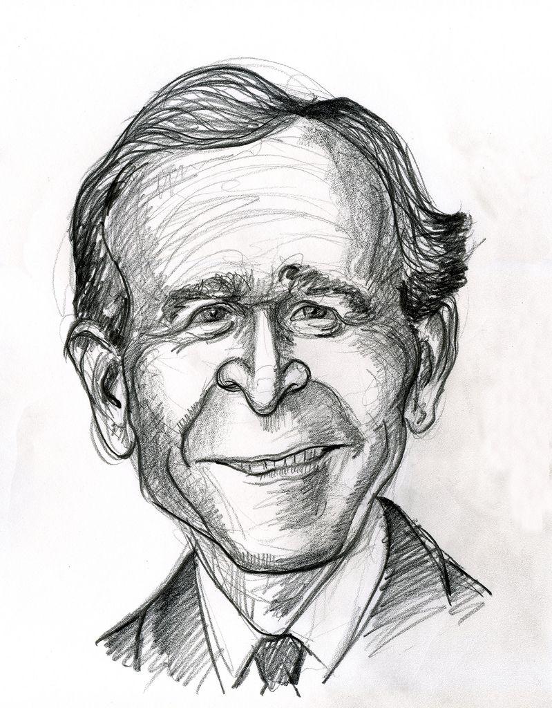 George H W Bush Caricature