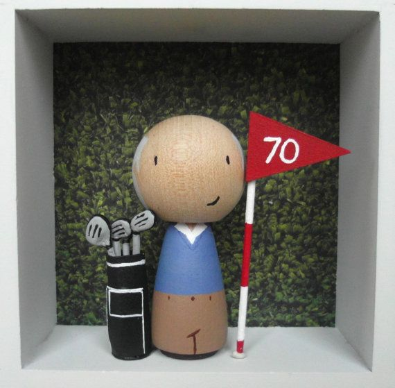 Custom made Gardener Mini Me Cake Topper with wooden base personalised hand pained wooden dolls