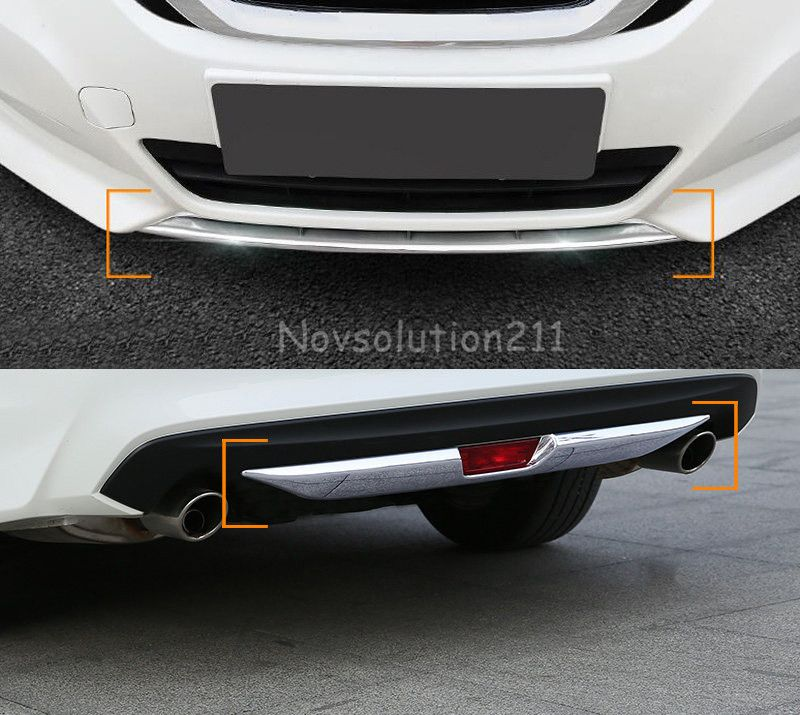2pcs Front And Rear Bumper Cover Trim For Nissan Teana Altima 2016 2017 Moldings And Trim Interior Accessories Altima