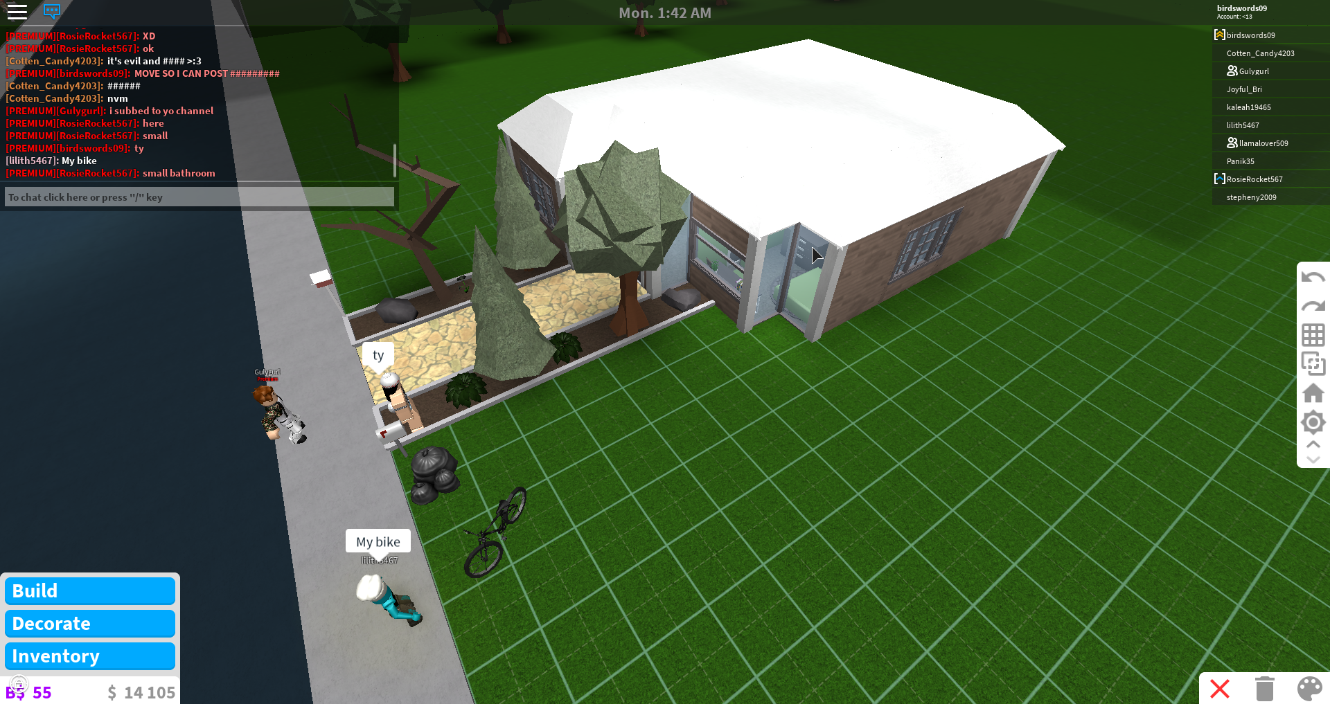 This is a nice starter house to build if you have 20k in roblox welcome to bloxburg i have another one just look up pastel roblox starter homes and