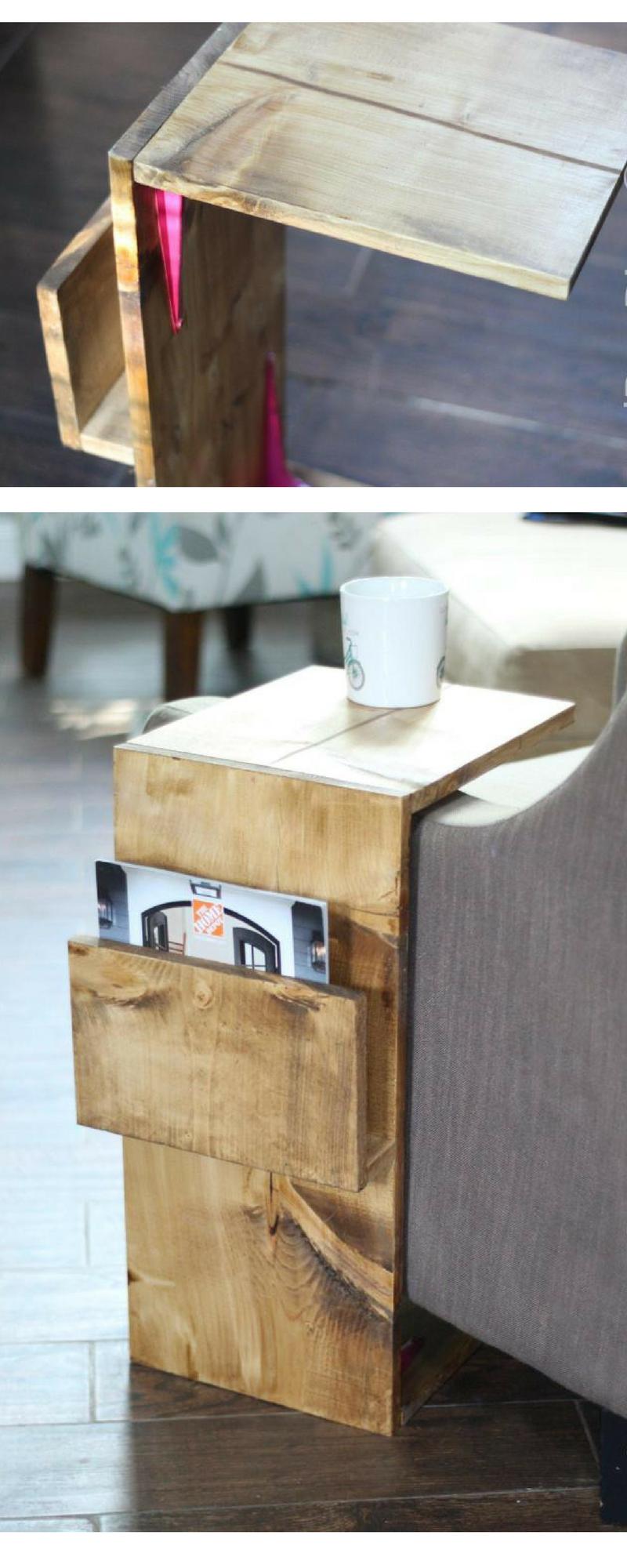 Sofa Laptop Desk With Magazine Rack Hmc Maker Diy