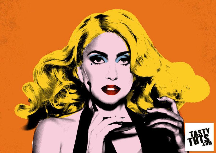 Create Andy Warhol Style Pop Art - Lady Ga Ga by tastytuts