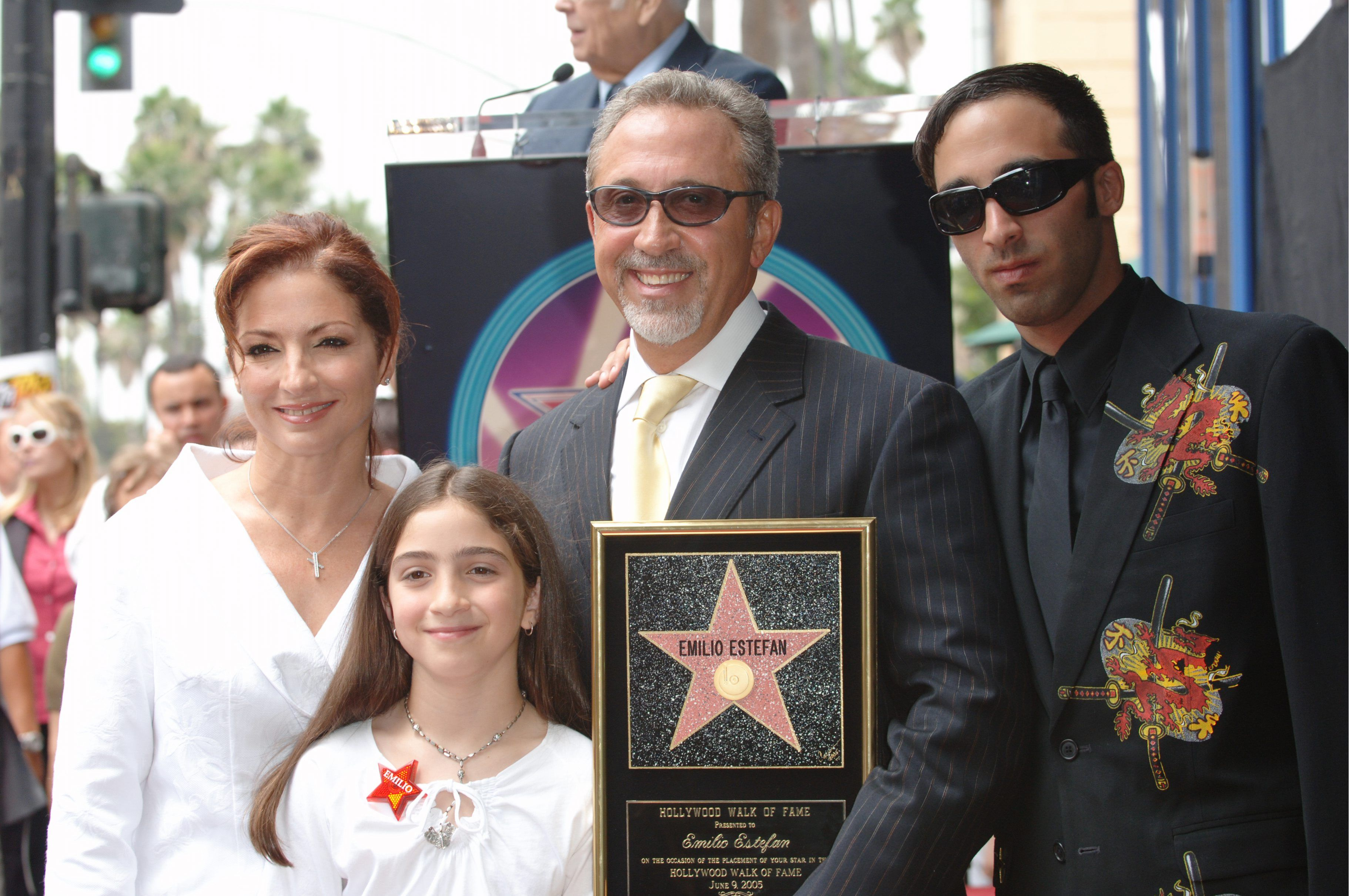 Singer GLORIA ESTEFAN & husband EMILIO ESTEFAN & daughter ... Gloria Estefan Family 2013