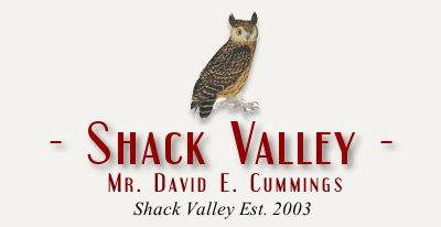 Shack Valley - The website of David E. Cummings. Located in the Adirondack town of Bolton Landing, NY on beautiful Lake George. Shackvalley.