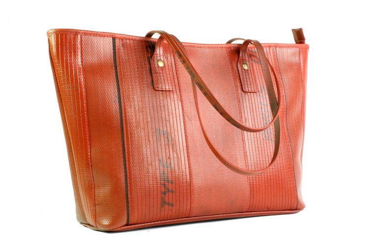 upcycled fire hose tote bag fire hose tote bag and bag rh pinterest com