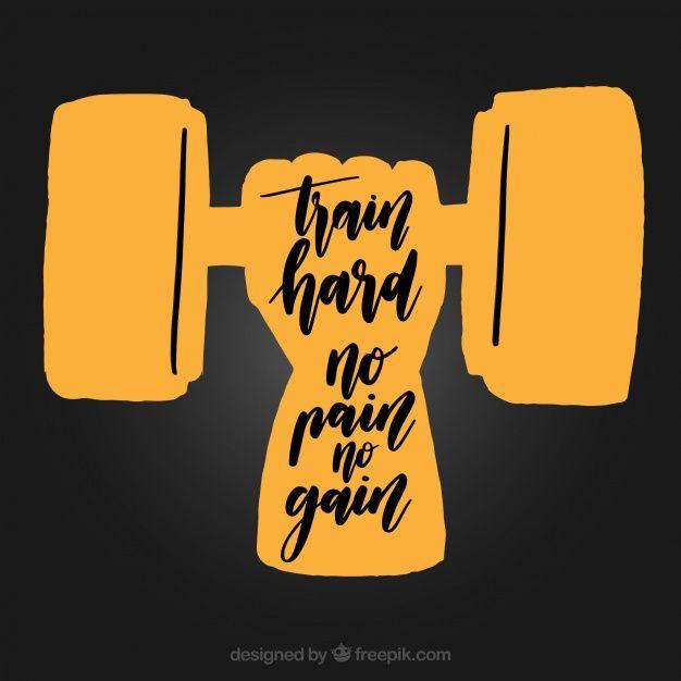 Fondo De Crossfit Con Frase Vector Gratis Gym Gimnasio