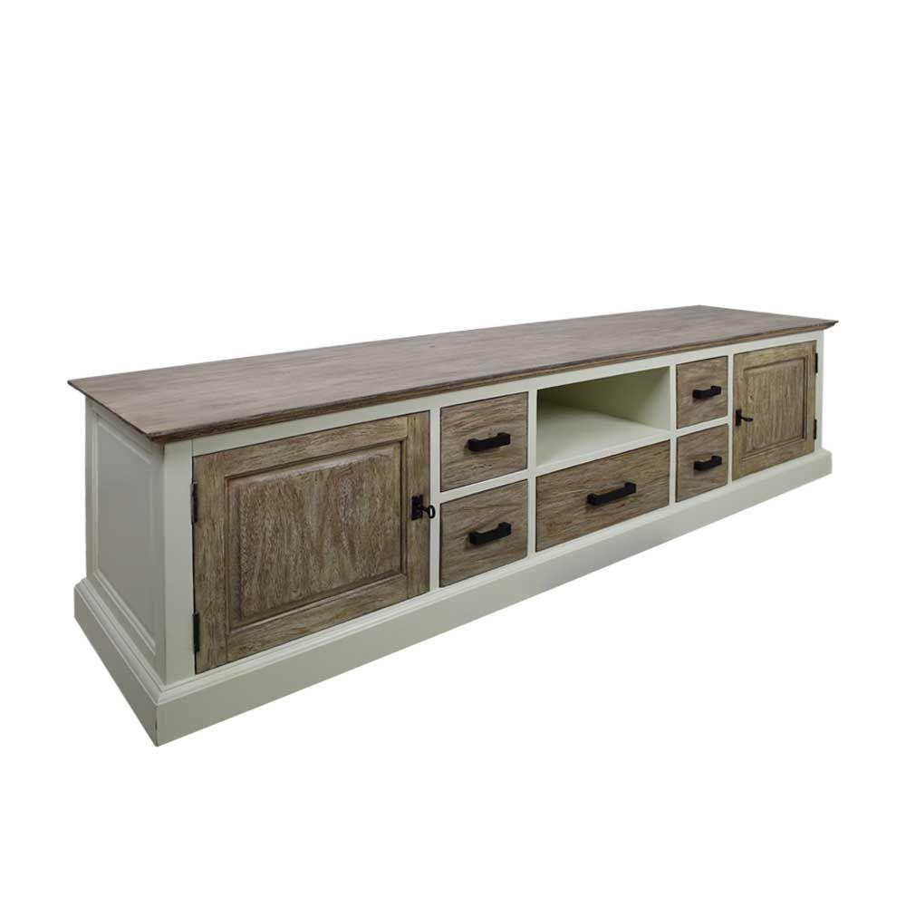 Schrank wohnzimmer weiß  TV Schrank in Weiß Holz abschließbar Jetzt bestellen unter: https ...
