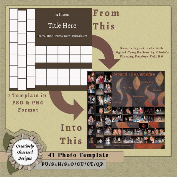 41 photo template 12x12 12x12 digital scrapbook templates 41 photo template 12x12 scrapbook templatesshops pronofoot35fo Gallery