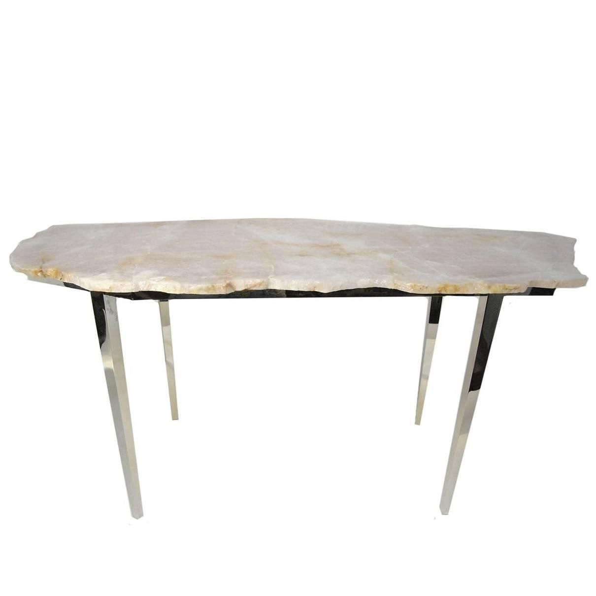 Stylish Large Pink Coffee Table