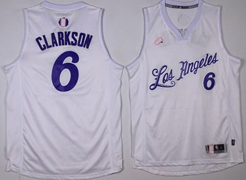Lakers  6 Jordan Clarkson White 2016-2017 Christmas Day Stitched NBA Jersey 1c60f9cec