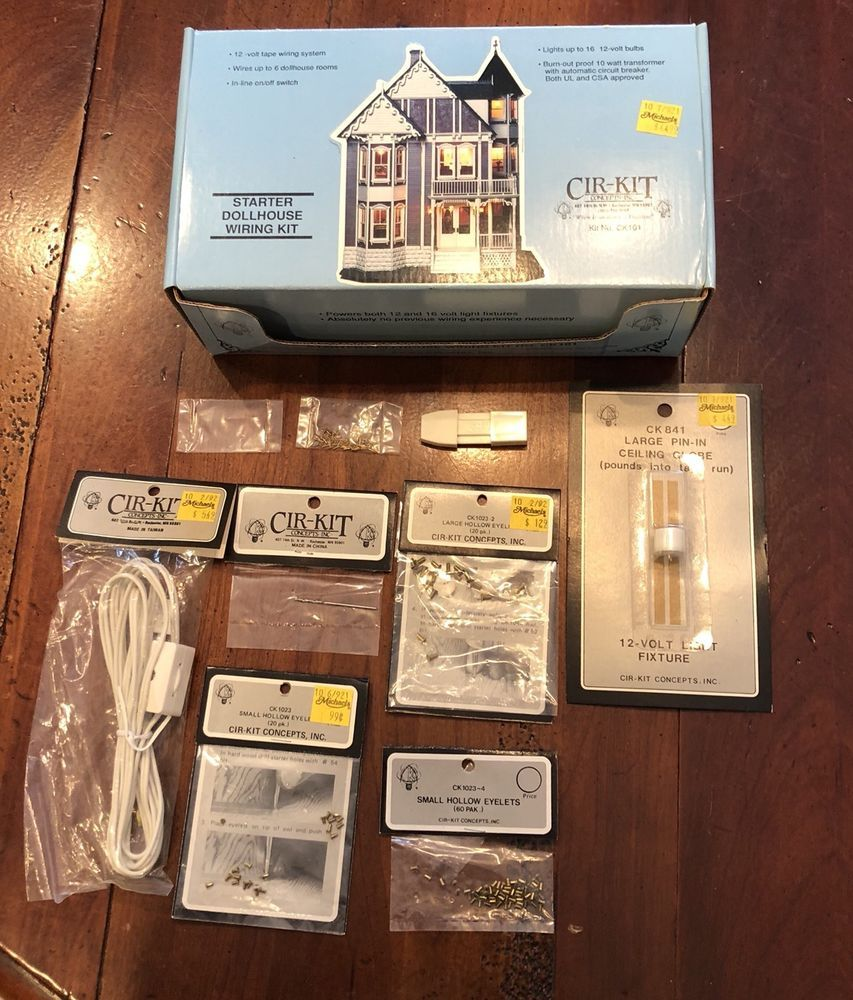 Outstanding Nos Cir Kit Dollhouse Starter Wiring Kit Ck101 Instructions Wiring Digital Resources Millslowmaporg