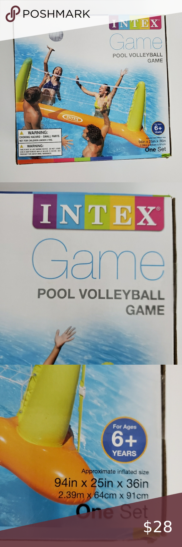 Intex Inflatable Pool Volleyball Set In 2020 Volleyball Set Inflatable Pool Intex