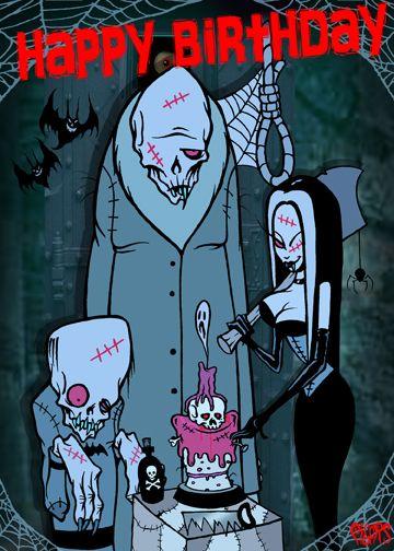 Happy birthday monsters noose toxic toons spooky greeting card happy birthday monsters noose toxic toons spooky greeting card click image to close bookmarktalkfo Images