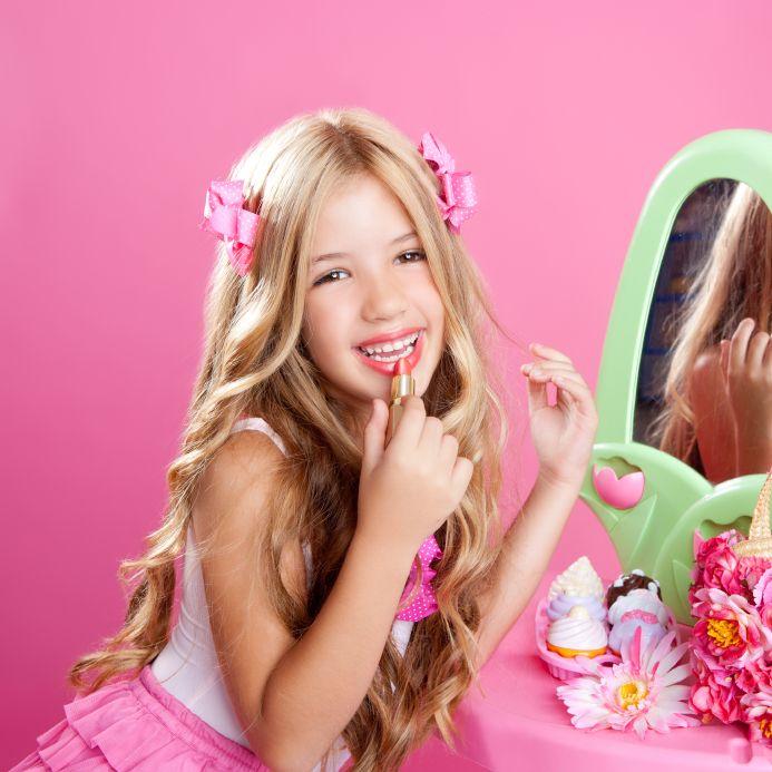 makeup for little girls. children fashion doll little girl lipstick makeup pink vanity royalty free stock photo for girls pinterest