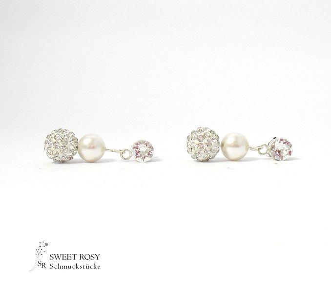 Brautschmuck ohrringe perlen  Perlen Ohrringe Hochzeit hängende Ohrstecker Braut | Ohrringe ...