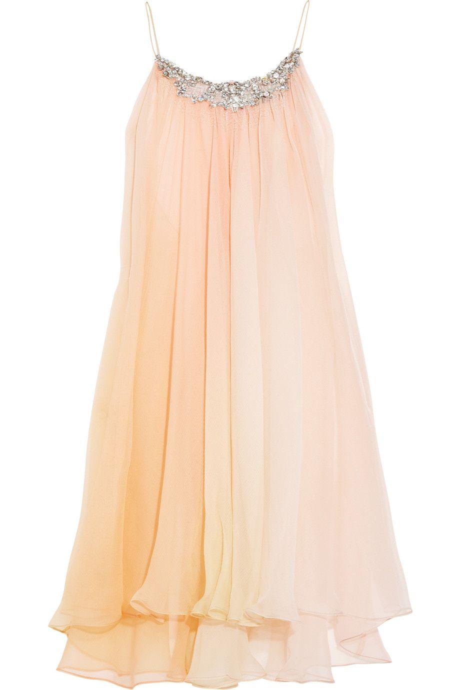 Jenny packham handpainted silkchiffon chemise spotted on wedding