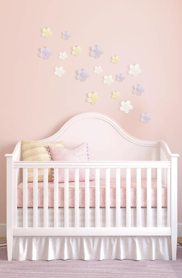 Decoraci n de rec mara para beb s utiliza stickers en 3d for Stickers habitacion bebe
