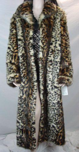 Stunning Pamela McCoy Coat Leopard Animal Print Excellent Condition Size L