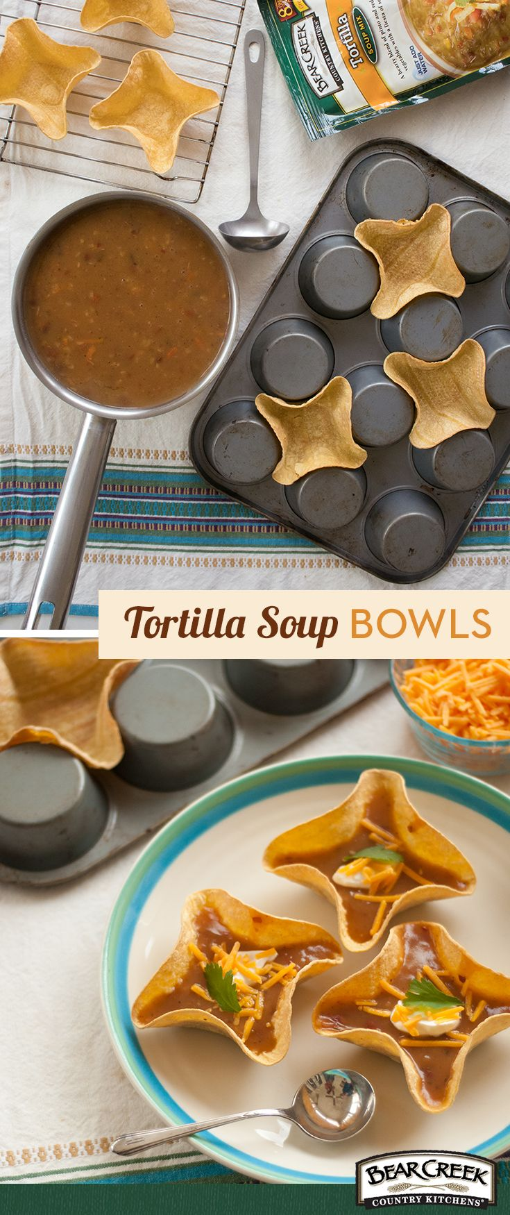 Get creative next time you are serving tortilla soup! This