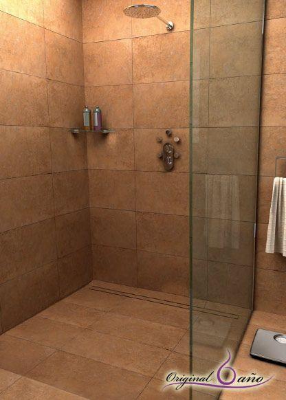ventajas platos de ducha de obra con desage oculto baos - Duchas De Obra Fotos