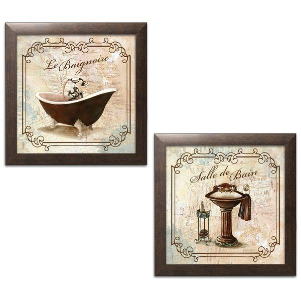 This classic prints for decorating bathroom salle de bain and le this classic prints for decorating bathroom salle de bain and le baignoire acrylic painting print set is perfect for the do it yourself decorato solutioingenieria Gallery