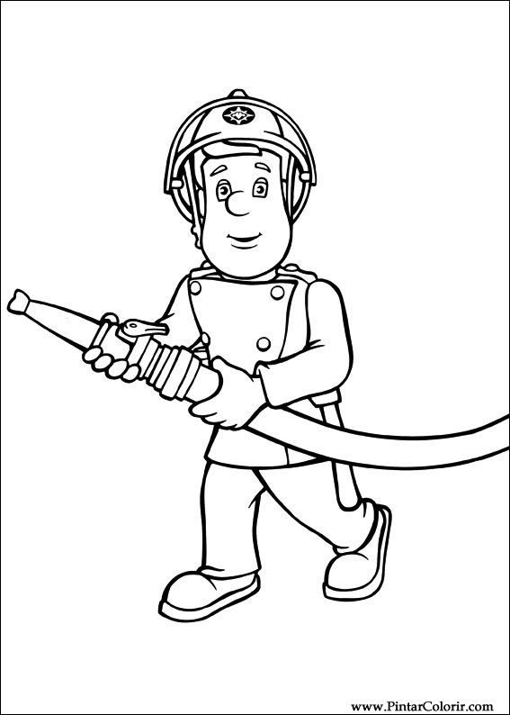 Brandweerman Sam Kleurplaat Firemen Theme Pinterest Fireman