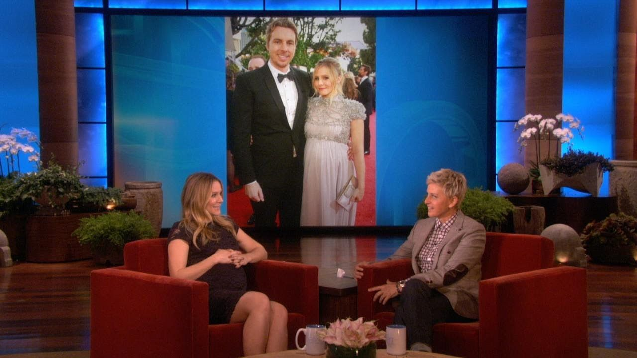 Kristen Bell Pregnant On Ellen