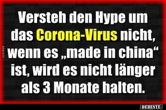 Photo of Versteh den Hype um das Corona-Virus nicht, wenn es..
