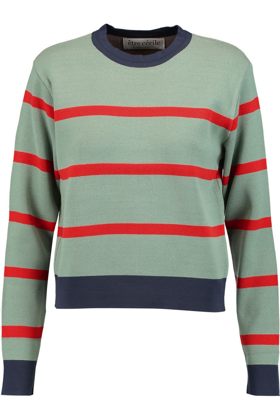 ETRE CECILE Striped stretch-knit sweater. #etrececile #cloth ...
