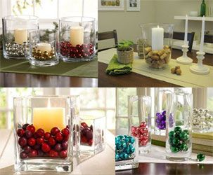 Beautiful vase filler ideas christmas decorating for Floor vase filler ideas