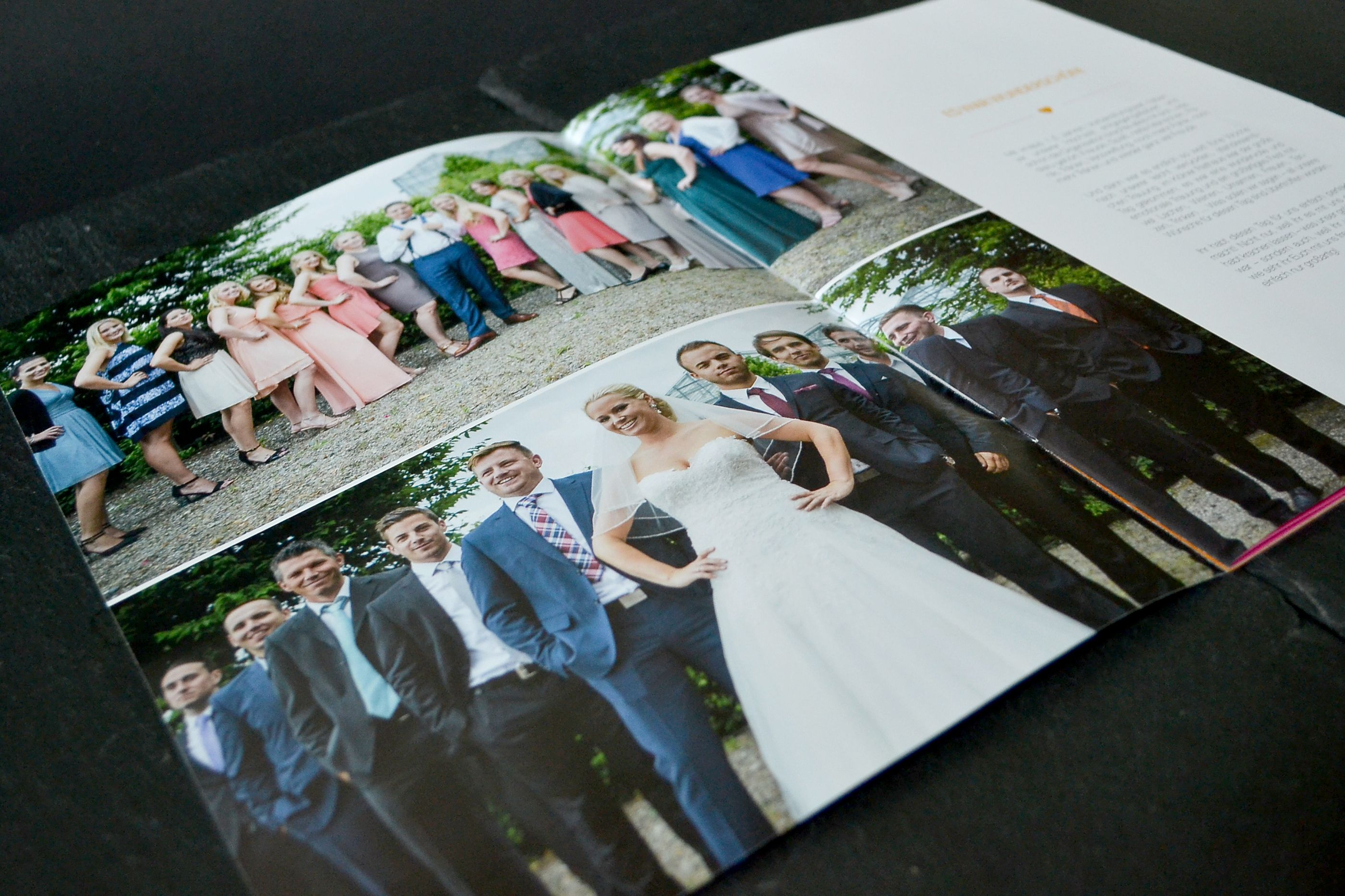 Danksagung mal anders - als Magazin #Dankeskarte #Hochzeit