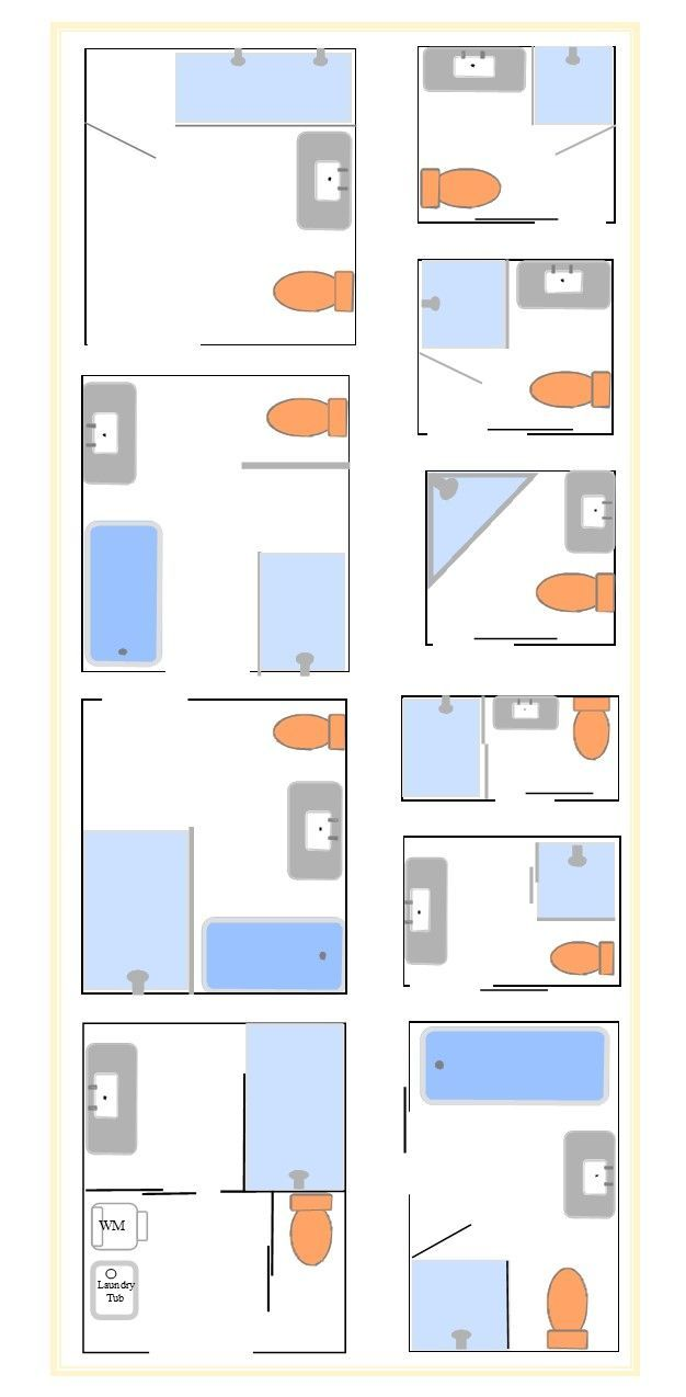 Tips on bathroom layouts to configure the space planning