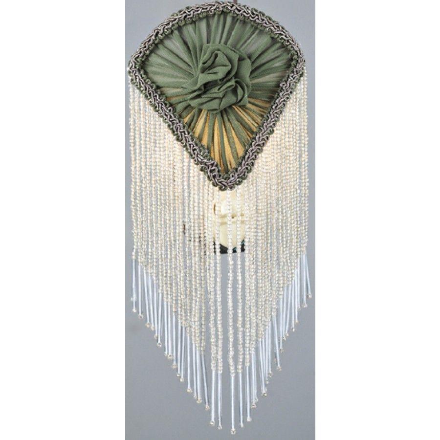 Meyda Tiffany Night Lights Fan Fabric With Fringe Night Light In Green 14374 Night Light Meyda Lights