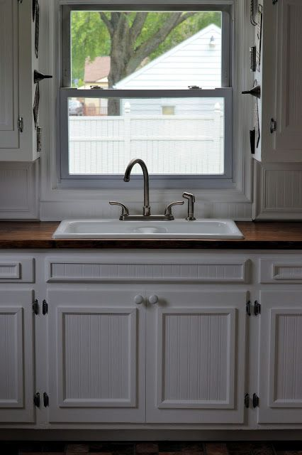 Updating kitchen cabinets with beadboard