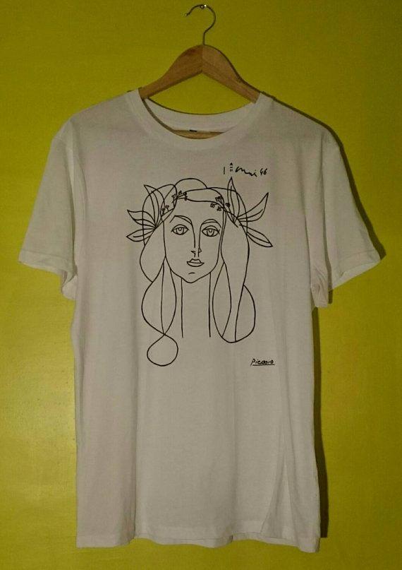 e95c50a70bcec Picasso Woman (Francoise Gilot) Sketch T Shirt   t-shirt   Shirts, T ...