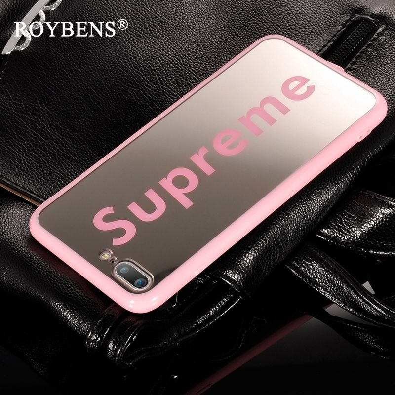 roybens fashion cute supreme mirror case for iphone 6 6s. Black Bedroom Furniture Sets. Home Design Ideas
