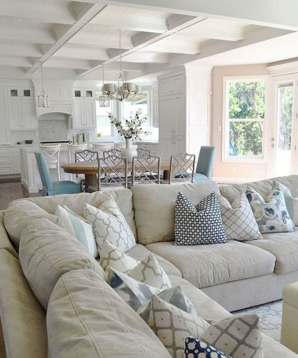 65 Gorgeous Coastal Living Room Decor Ideas images