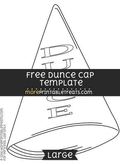 Free dunce cap template large shapes and templates for Dunce hat template