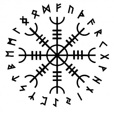 Mistik Ve Kudretli Viking Tilsimlari Buyulu Bir Pusula Olan Vegvisir Vikinglere Denizde Ve Karada Dogru Yolu Bulup Kati Vikingler Kelt Dovmeleri Norse Tattoo