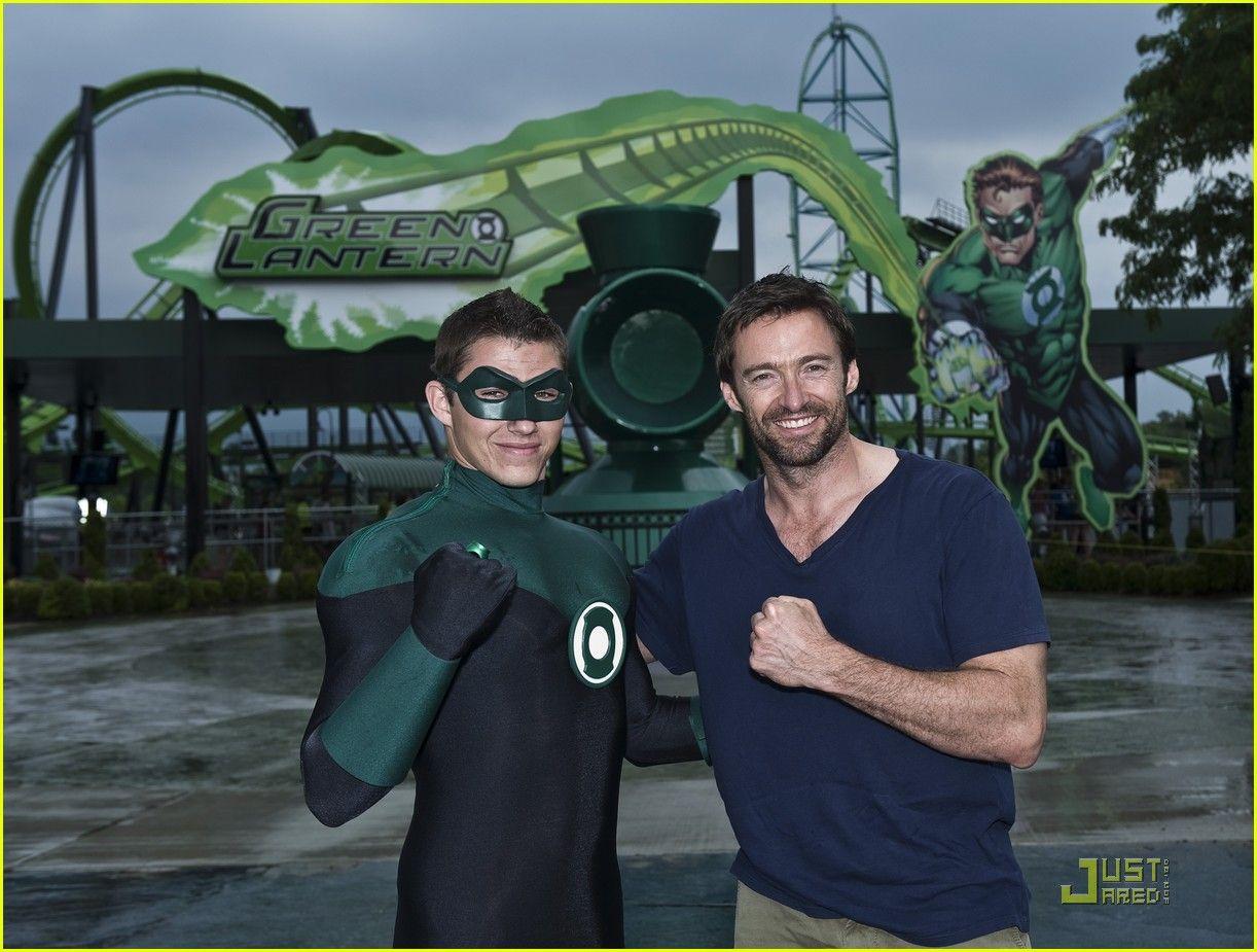 with Green Lantern at amusement park 2011