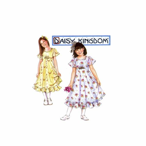 Girls Dress and Slip Daisy Kingdom Simplicity 8556 Sewing Pattern